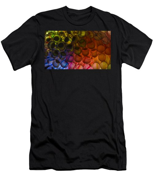 Circles In Color Men's T-Shirt (Athletic Fit)