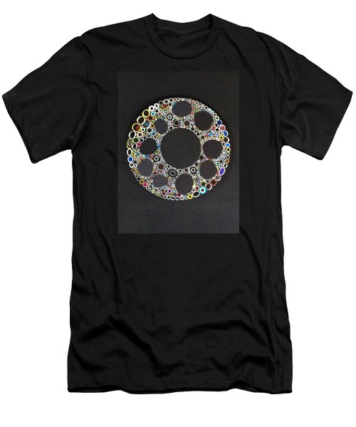 Circular Convergence Of Mutated Molecules Men's T-Shirt (Slim Fit) by Douglas Fromm