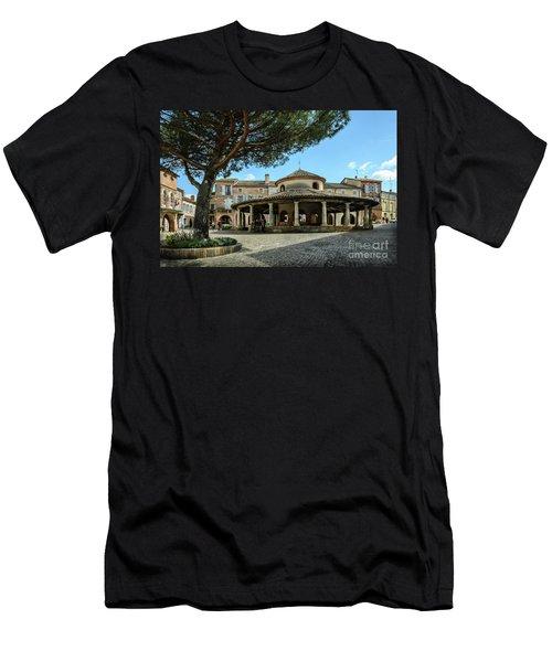 Circular Grain Market In Auvillar Men's T-Shirt (Slim Fit) by RicardMN Photography
