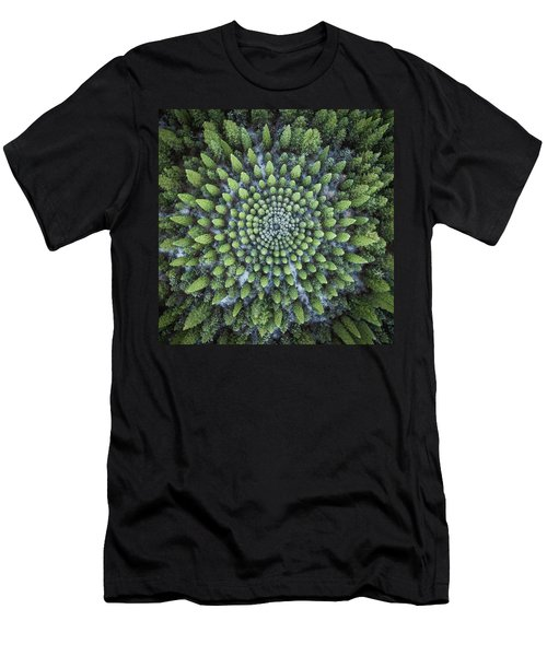 Circular Symmetry Men's T-Shirt (Athletic Fit)