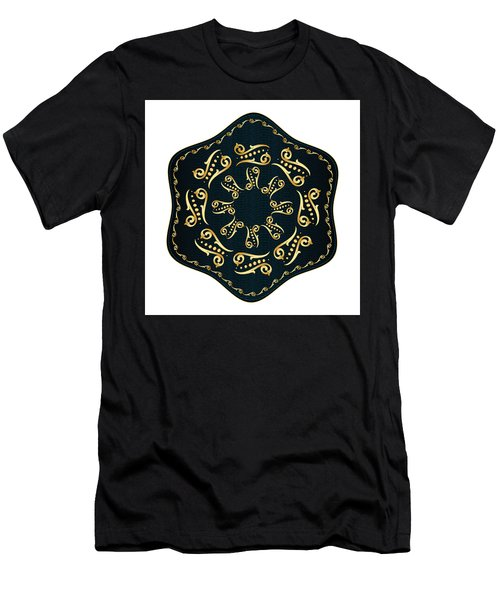 Men's T-Shirt (Slim Fit) featuring the digital art Circularium No. 2560 by Alan Bennington