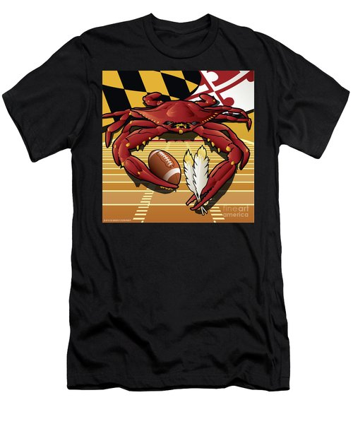 Citizen Crab Redskin, Maryland Crab Celebrating Washington Redskins Football Men's T-Shirt (Athletic Fit)