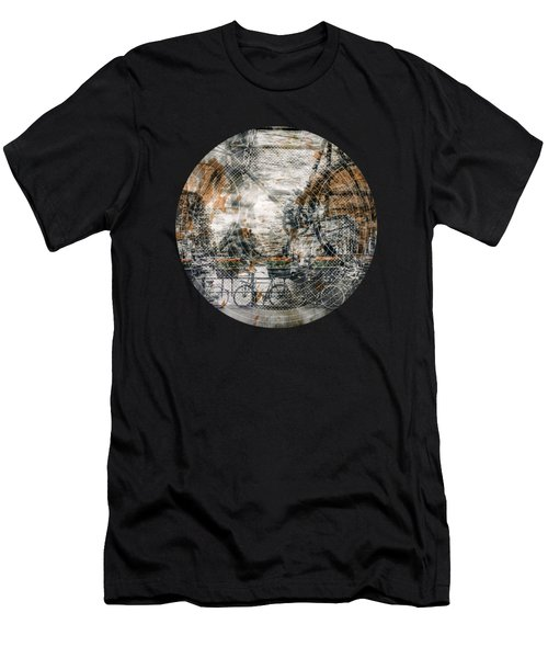 City-art Amsterdam Bicycles  Men's T-Shirt (Slim Fit) by Melanie Viola