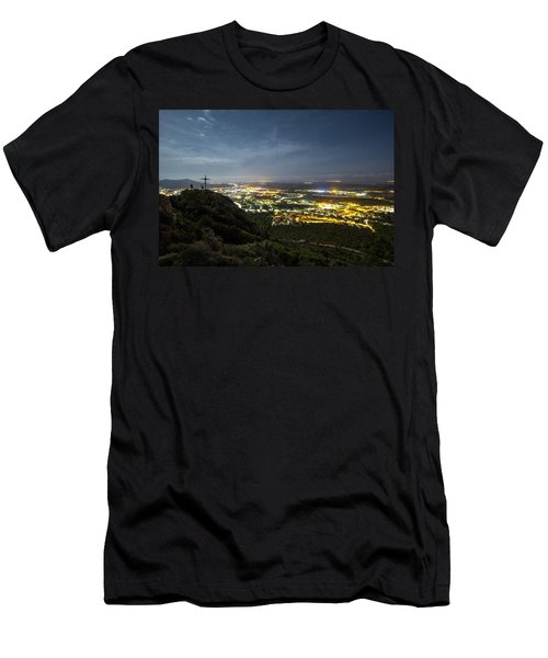 City At Night Men's T-Shirt (Athletic Fit)