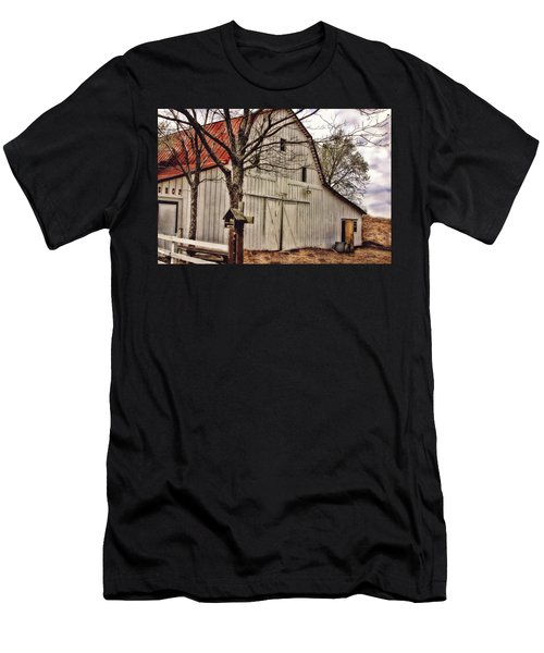 Men's T-Shirt (Slim Fit) featuring the photograph City Barn by Joan Bertucci
