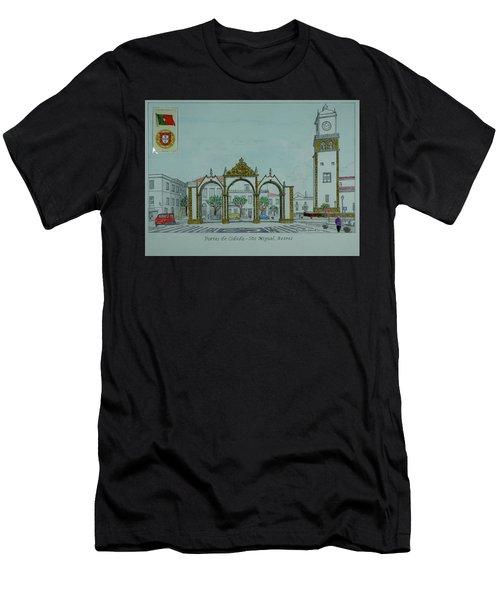 City Gates, San Miguel,azores Men's T-Shirt (Athletic Fit)