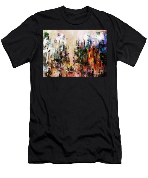 Men's T-Shirt (Athletic Fit) featuring the photograph City Life by Claire Bull