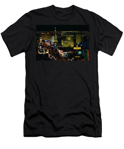 City Lit Up At Night, The Strip, Las Men's T-Shirt (Athletic Fit)