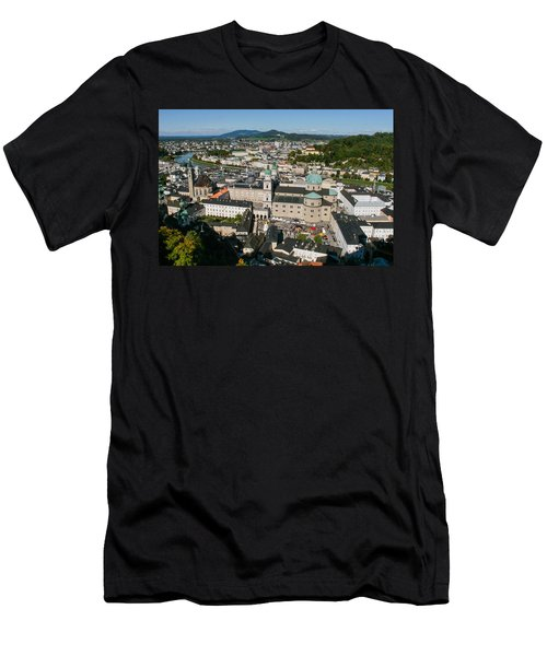 Men's T-Shirt (Slim Fit) featuring the photograph City Of Salzburg by Silvia Bruno