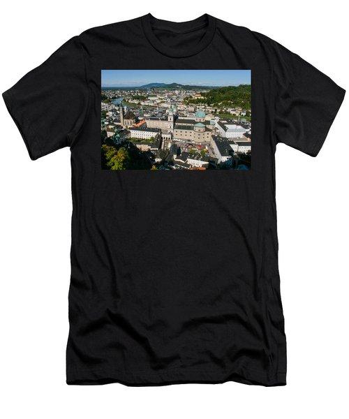 City Of Salzburg Men's T-Shirt (Slim Fit) by Silvia Bruno