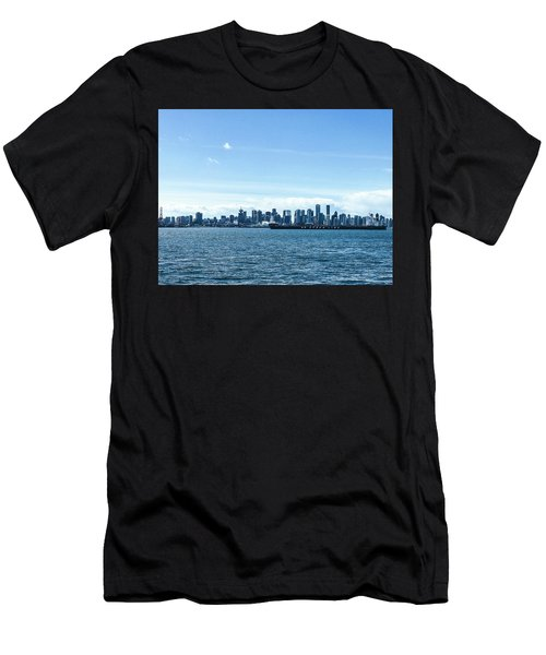 City Of Vancouver From The North Shore Men's T-Shirt (Athletic Fit)