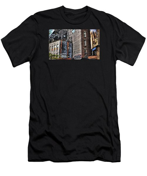 City Scenes Nyc Men's T-Shirt (Slim Fit) by Steve Archbold