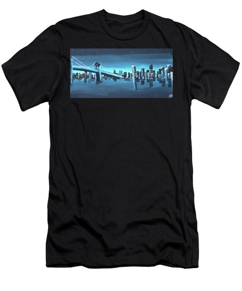 City Skyline Men's T-Shirt (Slim Fit) by Cyrionna The Cyerial Artist