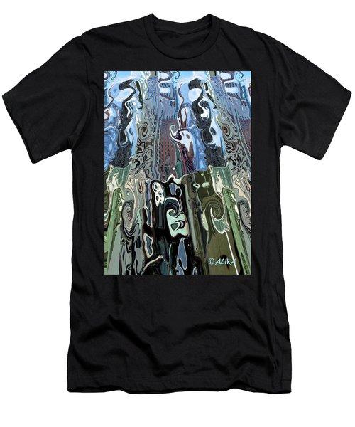 City Towers Men's T-Shirt (Slim Fit) by Alika Kumar