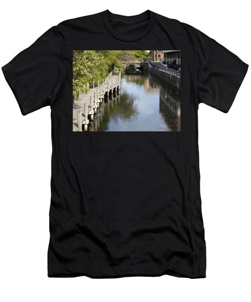 City Waterway Men's T-Shirt (Slim Fit) by Tara Lynn
