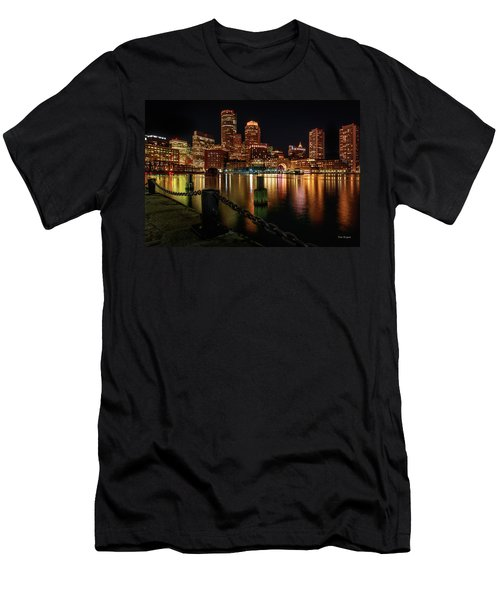 City With A Soul- Boston Harbor Men's T-Shirt (Athletic Fit)