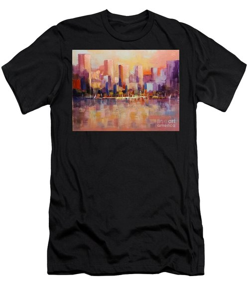 Cityscape 2 Men's T-Shirt (Athletic Fit)