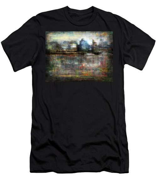 Cityscape #33. Silent Windows Men's T-Shirt (Slim Fit) by Alfredo Gonzalez