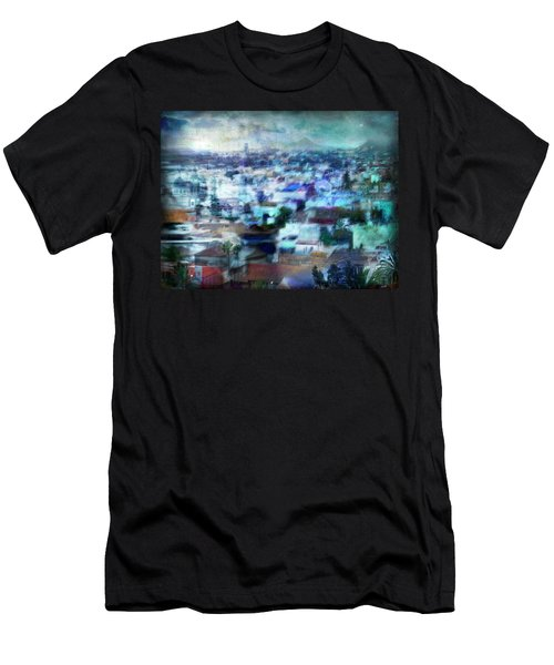 Cityscape #41 - Blue Whispers Men's T-Shirt (Athletic Fit)