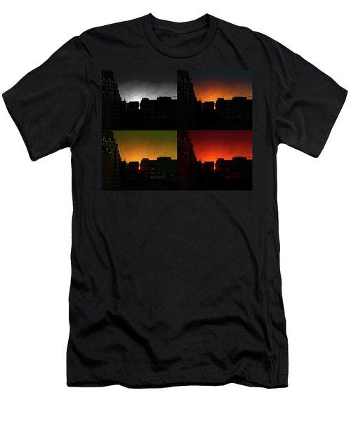Cityscape Sunset Men's T-Shirt (Athletic Fit)