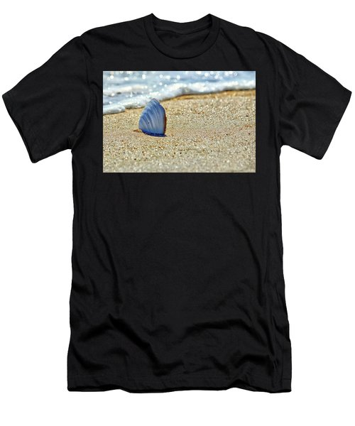 Clamshell In The Waves On Assateague Island Men's T-Shirt (Athletic Fit)