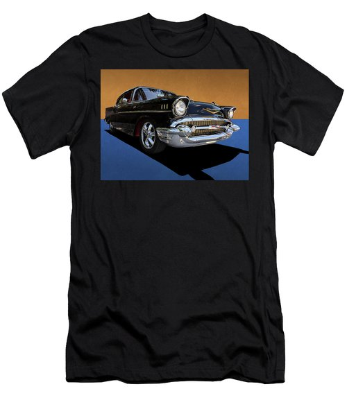 Classic Black Chevy Bel Air With Gold Trim Men's T-Shirt (Athletic Fit)