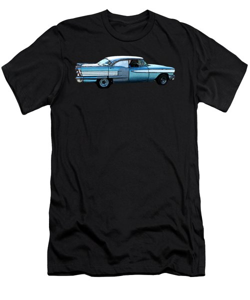 Classic Blue Motor Art Men's T-Shirt (Athletic Fit)