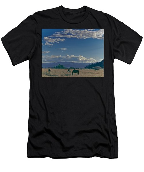Classic Country Scene Men's T-Shirt (Athletic Fit)