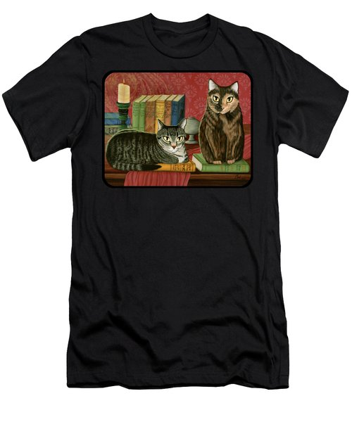 Classic Literary Cats Men's T-Shirt (Athletic Fit)