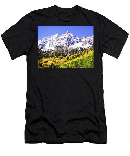 Classic Maroon Bells Men's T-Shirt (Athletic Fit)