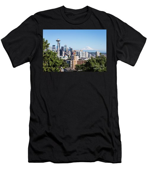 Classic View Of Seattle, Usa Men's T-Shirt (Athletic Fit)