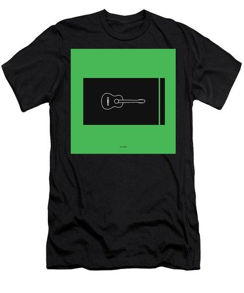 Classical Guitar In Green Men's T-Shirt (Slim Fit) by David Bridburg
