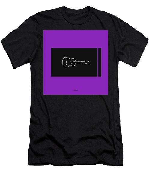 Classical Guitar In Purple Men's T-Shirt (Athletic Fit)