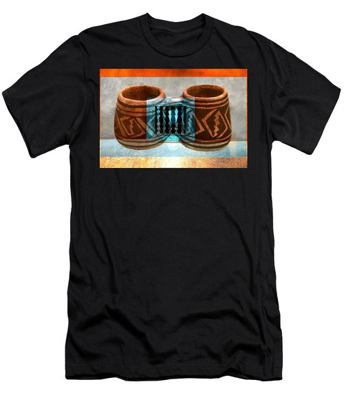 Men's T-Shirt (Slim Fit) featuring the digital art Classsic Designs Of The Southwest by David Lee Thompson