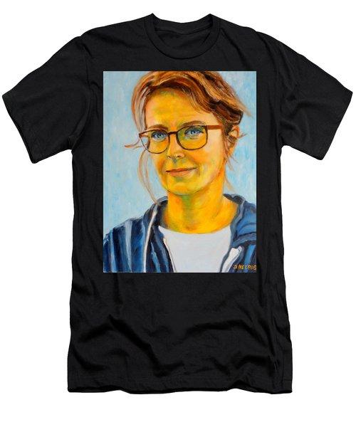 Claudia-portrait Men's T-Shirt (Athletic Fit)