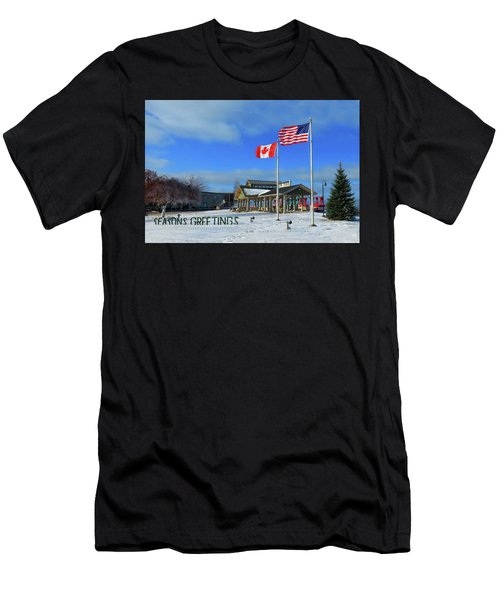 Clayton Seasons Greetings Men's T-Shirt (Athletic Fit)