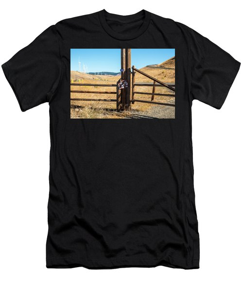 Clean Power And Old Ranch Gates Men's T-Shirt (Athletic Fit)