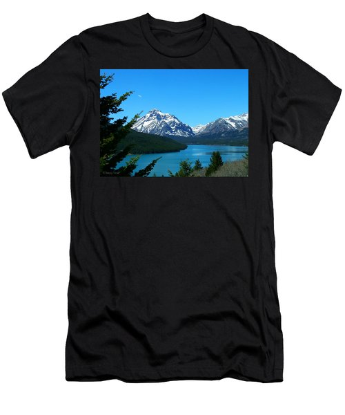 Clear Blue Lower Two Med Lake Men's T-Shirt (Slim Fit)
