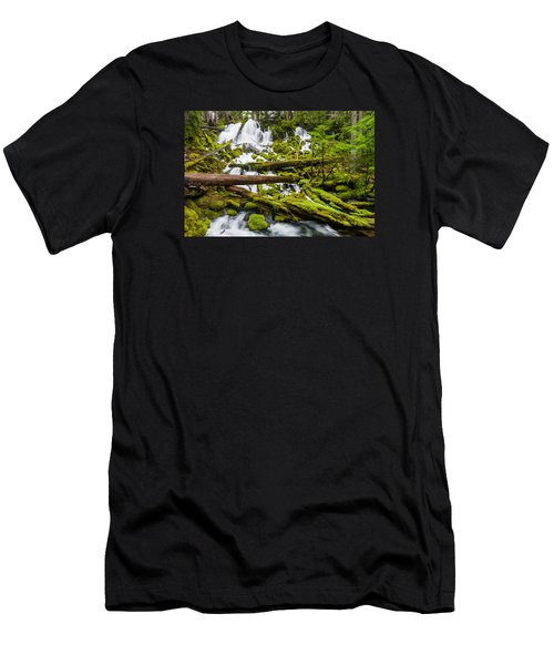 Clearwater Falls And Rapids Men's T-Shirt (Slim Fit) by Greg Nyquist