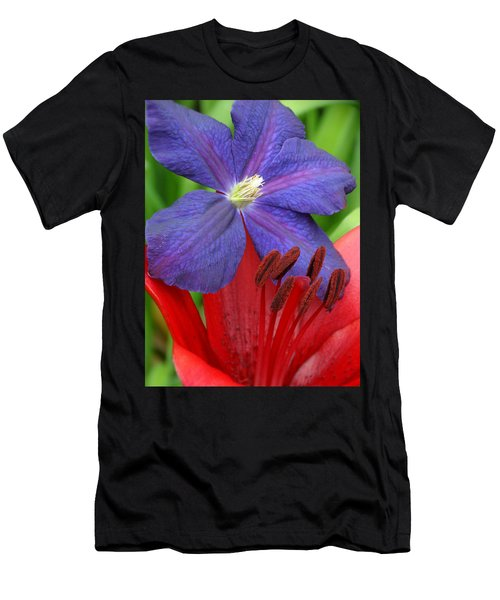 Clematis And Lily Men's T-Shirt (Athletic Fit)