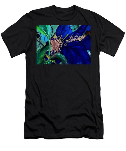 Clematis Regal In Purple And Blue Sold Men's T-Shirt (Athletic Fit)