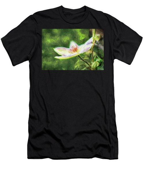 Clematis Study Men's T-Shirt (Athletic Fit)