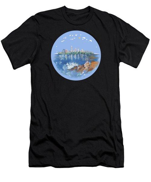 Cleveland Skyline Plate Men's T-Shirt (Athletic Fit)