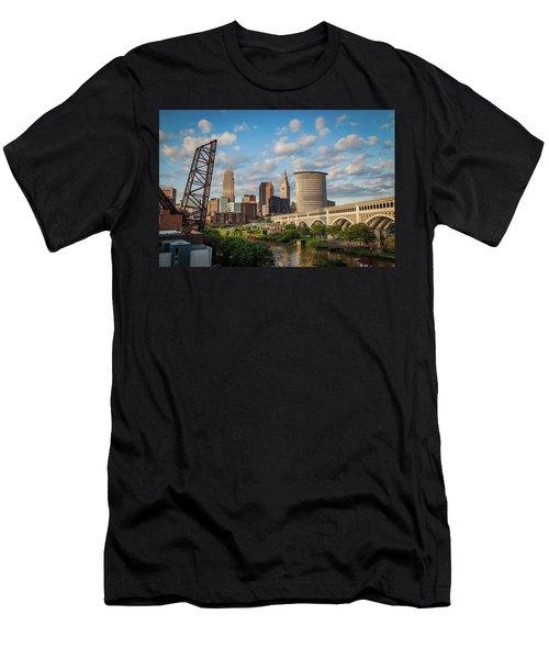 Cleveland Summer Skyline  Men's T-Shirt (Athletic Fit)