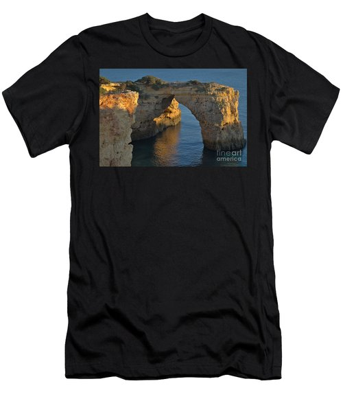 Cliff Arch In Albandeira Beach During Sunset 2 Men's T-Shirt (Athletic Fit)