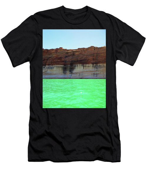 Cliff At Lake Powell Men's T-Shirt (Athletic Fit)