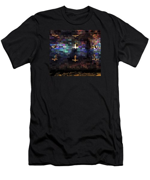 Men's T-Shirt (Athletic Fit) featuring the photograph Cliff Diver Wall by Steve Siri