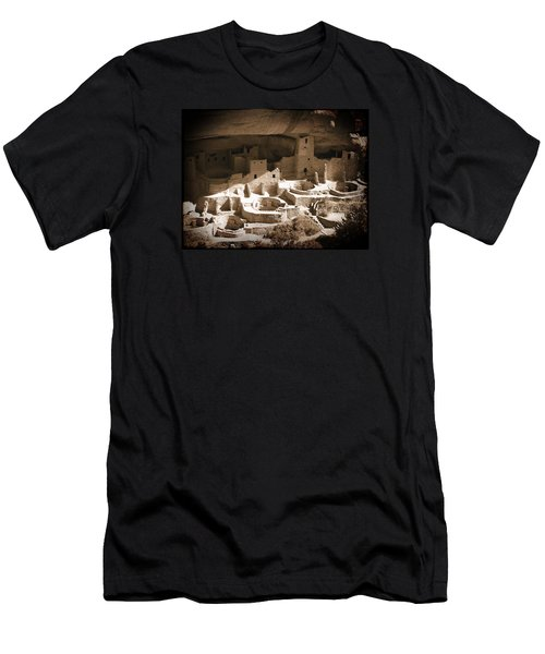 Men's T-Shirt (Slim Fit) featuring the photograph Cliff Palace Mesa Verde by Kurt Van Wagner