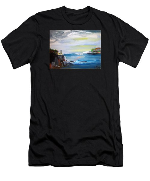 Cliffs By Colleen Ranney Men's T-Shirt (Athletic Fit)