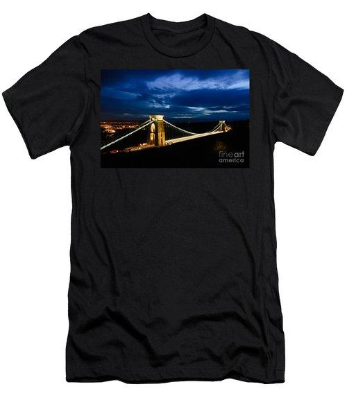 Clifton Suspension Bridge, Bristol. Men's T-Shirt (Slim Fit) by Colin Rayner